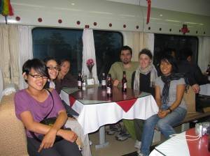 Some of the people from the Tibet tour. The only ones remaining just before we alighted.